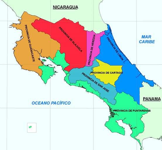 Límites geográficos de Costa Rica