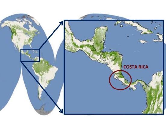 Ubicación geográfica de Costa Rica