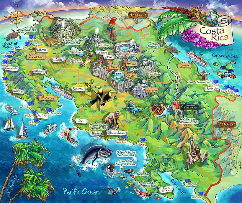 Principales lugares turísticos de Costa Rica