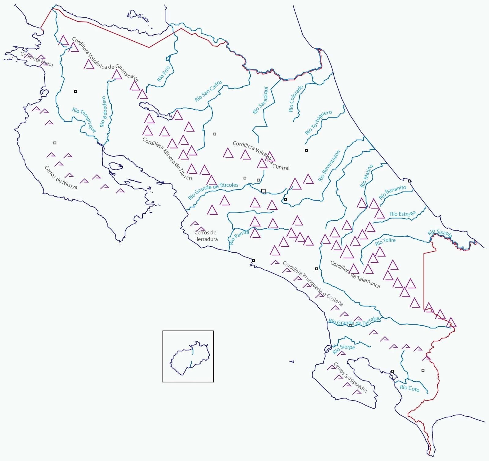 Principales ríos de Costa Rica
