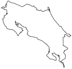 Mapa mudo de Costa Rica